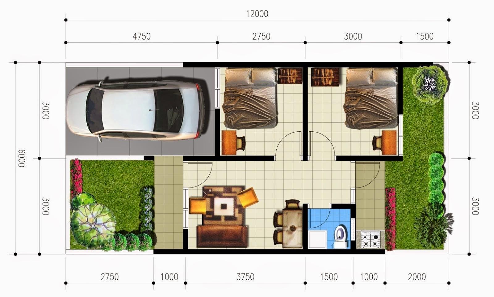 Desain Rumah Minimalis Ukuran 5x6 Jual Bata Ekspos
