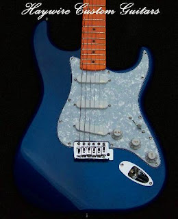 image results for Haywire Custom Guitars Blue Stratocaster with White Pearl gaurd