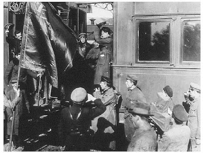 Trotsky on his train near the front-lines c.1919-1921