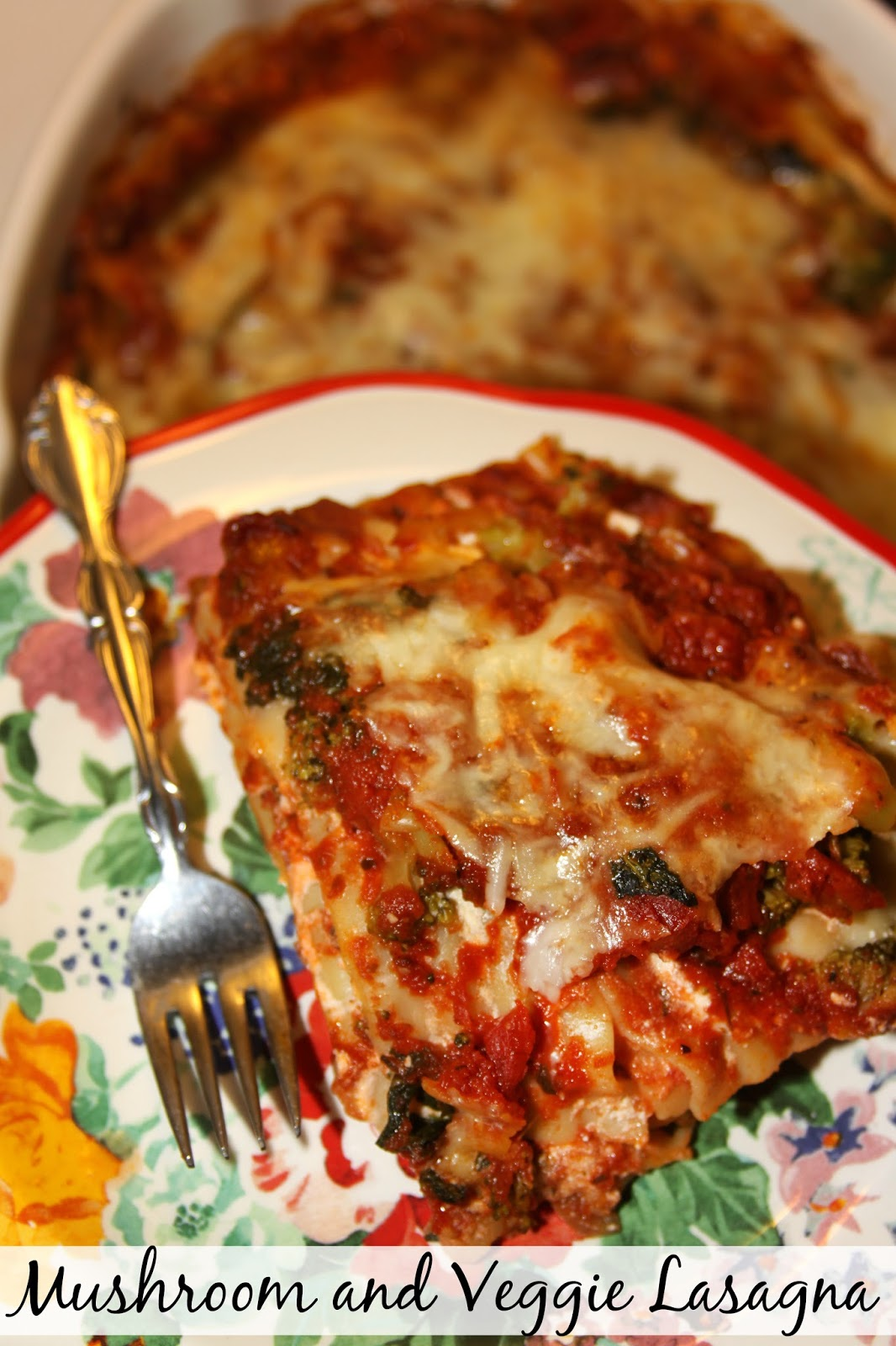 Homestyle Mushroom and Veggie Lasagna - a hearty family meal everyone ...