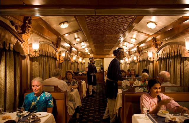 Peshwa I & II restaurants on board the Deccan Odyssey