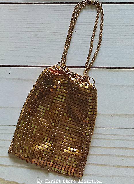 vintage Whiting & Davis Hollywood glam gold mesh bag