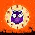 Halloween Cute Olw Clock Screensaver