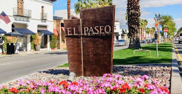 Compras no El Paseo nas proximidades de Palm Springs