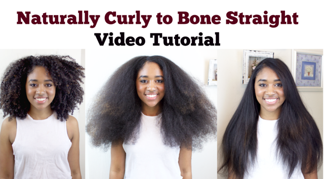 How To Properly Straighten Natural Hair