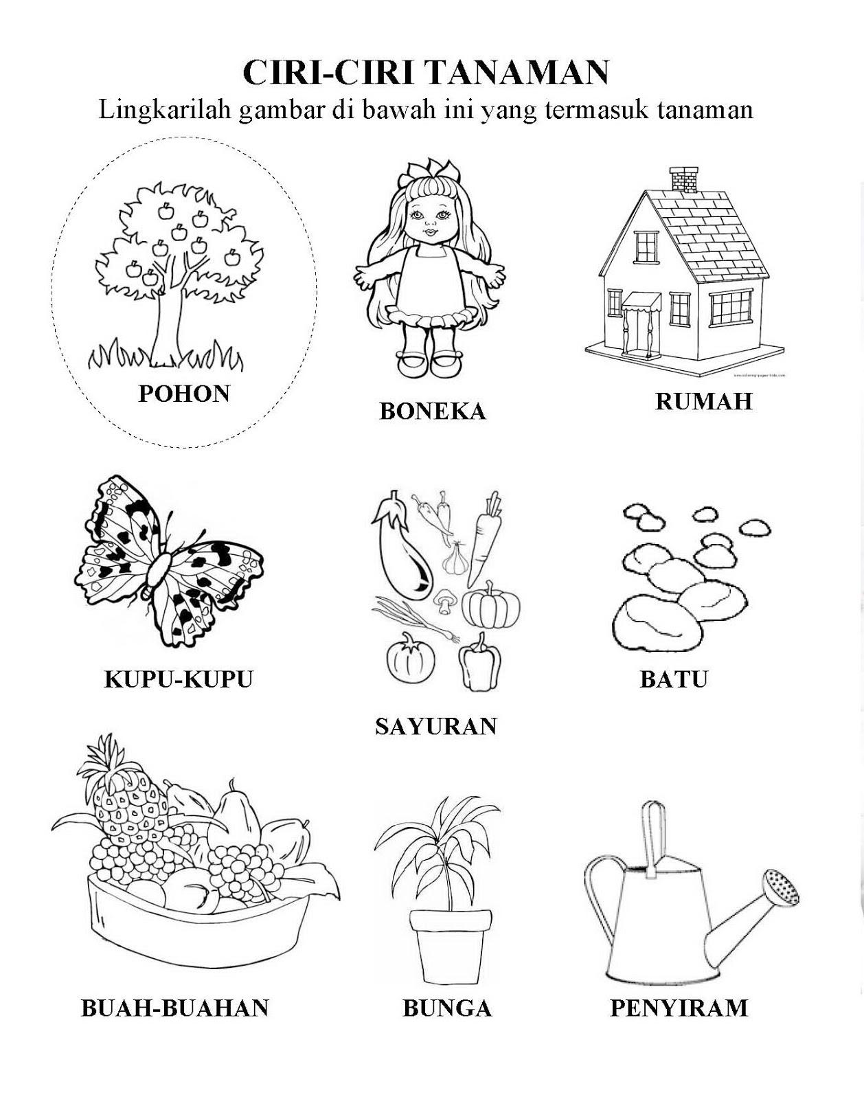 Worksheets Worksheet-anak-tk im happy now in paud pendidikan anak usia dini preschool lks contoh tema tanaman