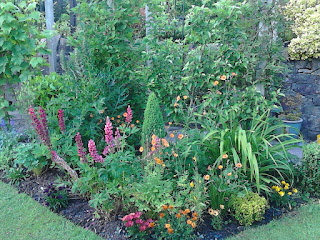 Mixed colour flower border in June Green Fingered Blog