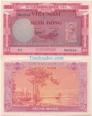 10 đồng việt nam cộng hòa 1955 lần 2