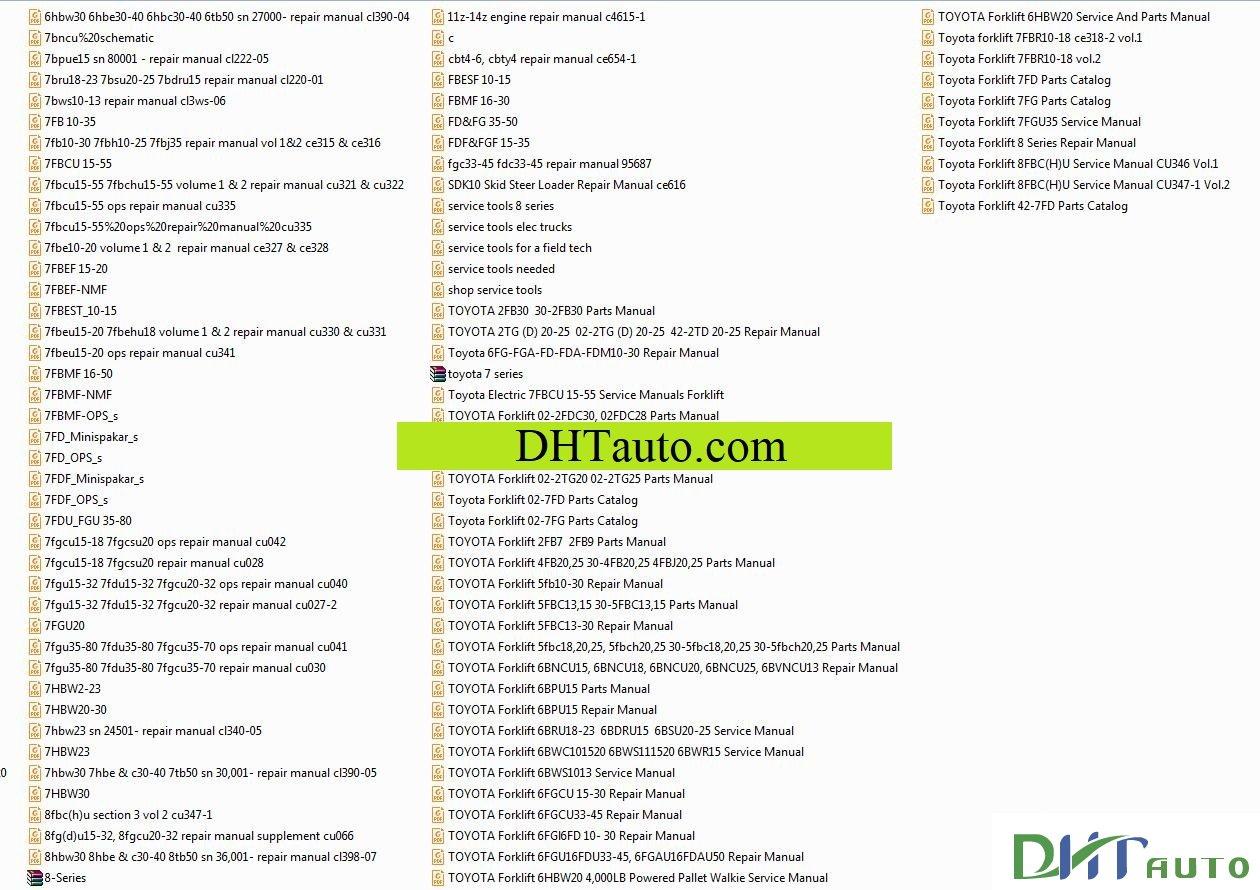 Toyota Forklift 42-7FD Parts Catalog. Link download: