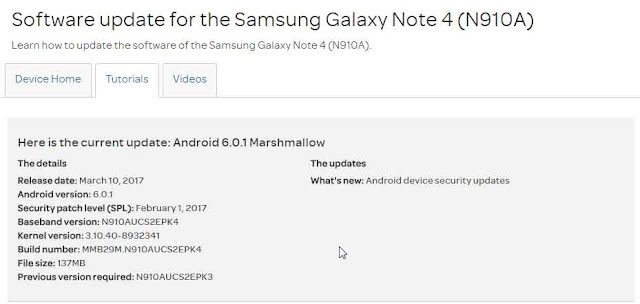 Software Update For Note 4