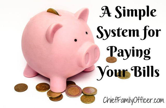 A Simple System for Paying Your Bills