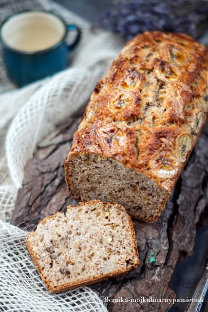 chleb, bernika, banan, ciasto, orzechy, deser, kulinarny pamietnik, banana bread