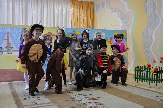 Спектакль Муха-цокотуха в детском саду