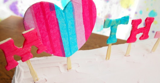 Mother's Day Decorating Using Tissue Paper Letters