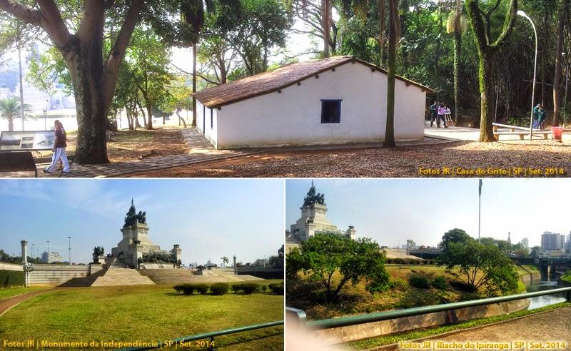 Atrações do parque | Casa do Grito, Monumento e Riacho Ipiranga