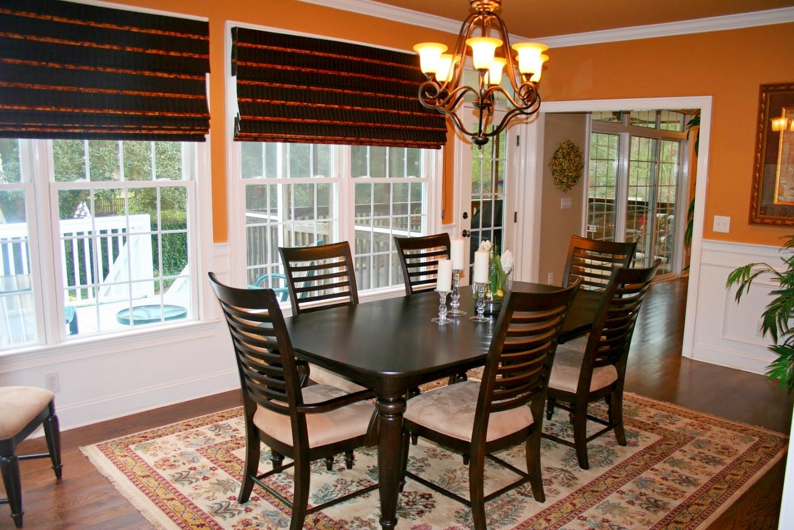 Casual dining room curtains - Great Brown Casual Dining Room Curtain Ideas