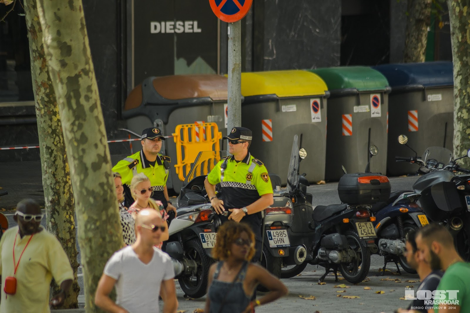 Policeman in Catalonia