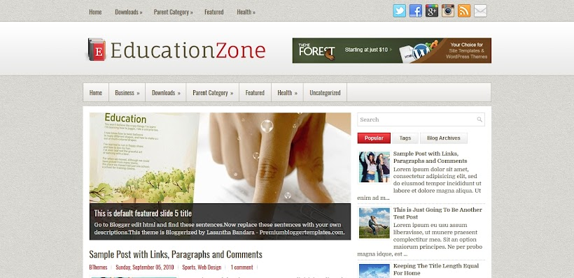 EducationZone Free Blogger Template