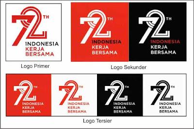 Logo 72 Tahun Kemerdekaan Indonesia