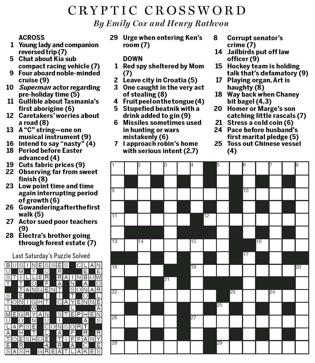 crossword answers today pets world