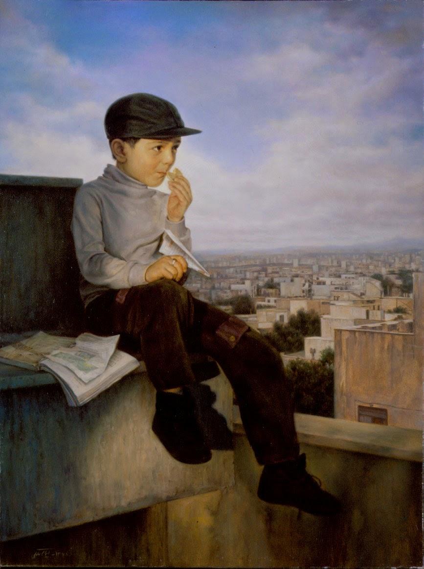 Fim dos Exames - Iman Maleki e suas pinturas realistas ~ Pintor iraniano