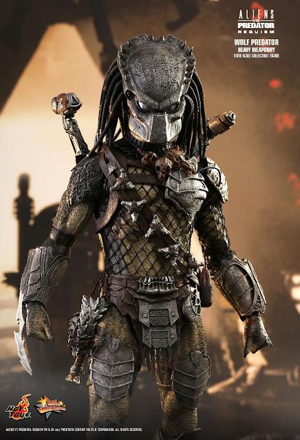 osw.zone Hot Toys Aliens vs. Predator: Requiem 1 / 6th Wolf Predator (Heavy Weaponry) Collector figure