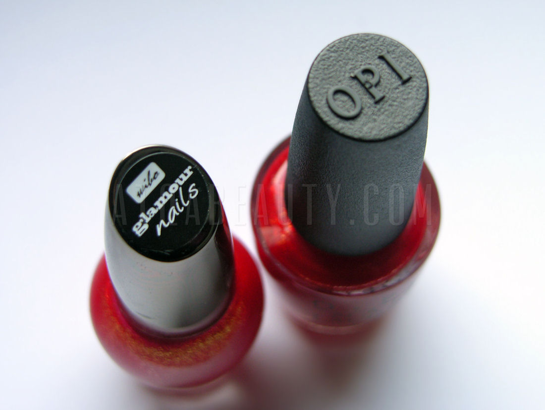OPI The Spy Who Loved Me & Wibo Glamour Nails nr 3