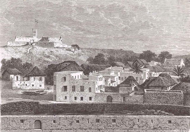 View of Elmina from St. George d'Elmina castle, c. 1870