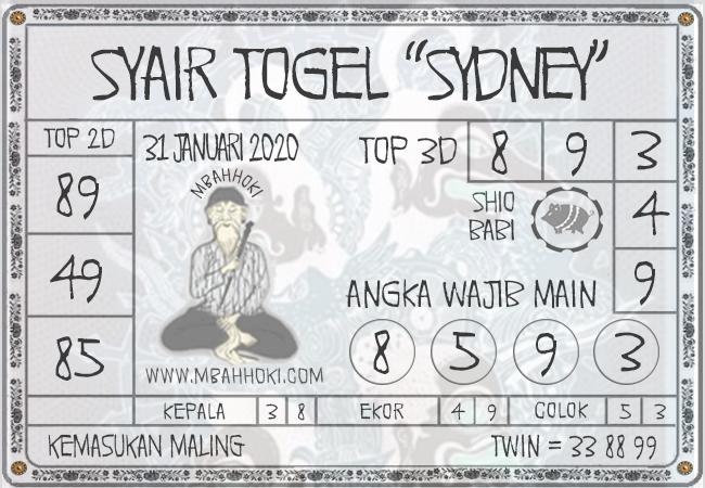 Syair Togel Sidney