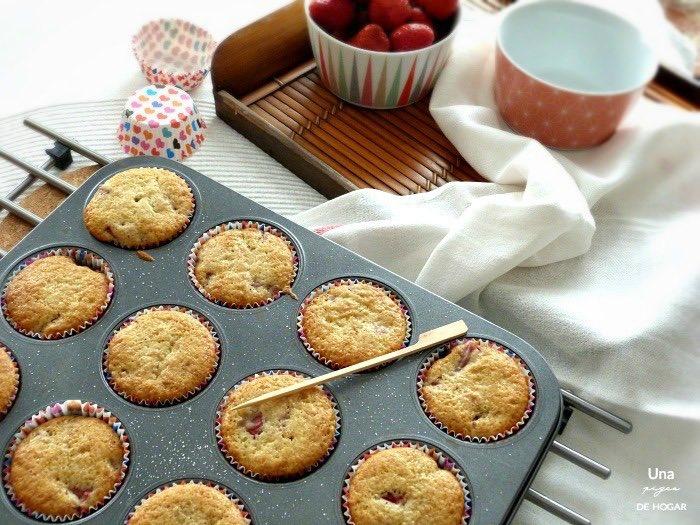 Muffins con fresas y chocolate Nutella