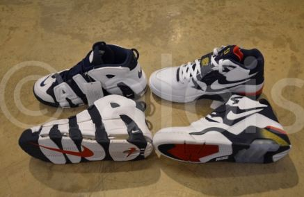 "info for 3d4fd d5857 Here is brand new images of the Nike Air Uptempo + Air Force 180 ""Olympic  Dream Team"" Sneakers, I grew up with the Dream Team and can not wait to get  these ..."