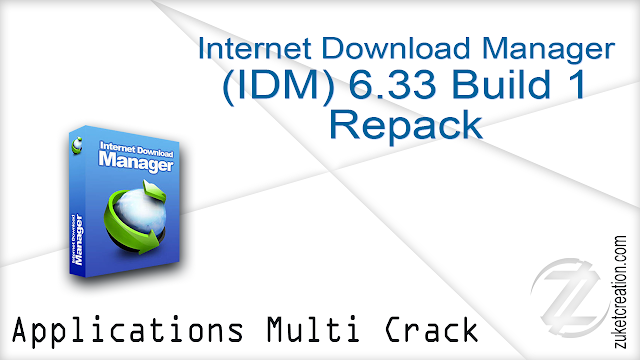 Internet Download Manager 6.33 Build 1 Repack  |    6.21 MB