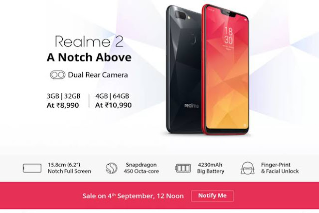 Flipkart offers Realme 2 at just Rs 8,240 in first sale – Here is how to get