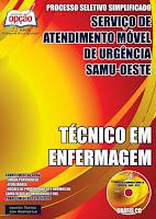 Apostila Concurso CIS-URG SAMU OESTE-MG - TÉCNICO EM ENFERMAGEM.