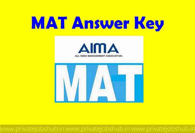 MAT Answer Key