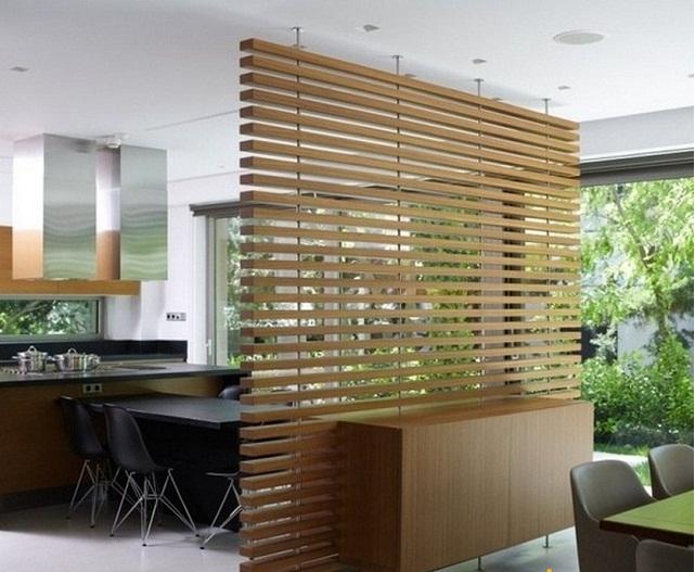 Trang trí phòng bếp bằng vách ngăn