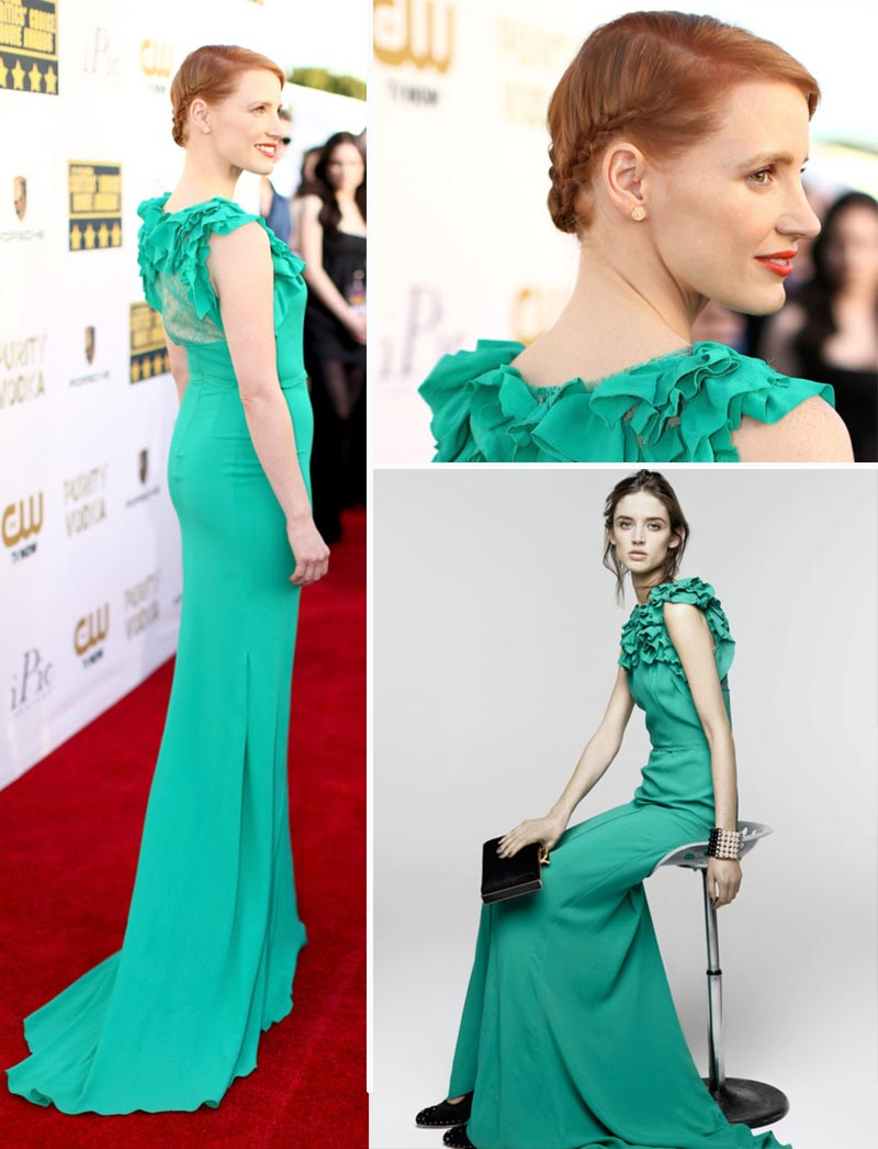 Jessica Chastain in Nina Ricci – 2014 Critics' Choice Movie Awards