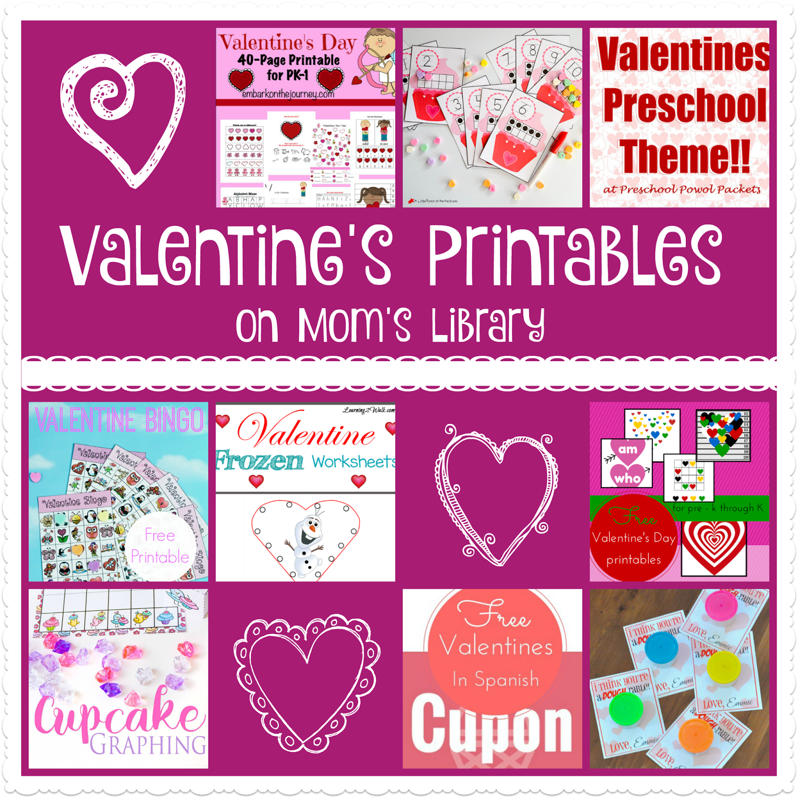 Valentine S Printables On Mom S Library