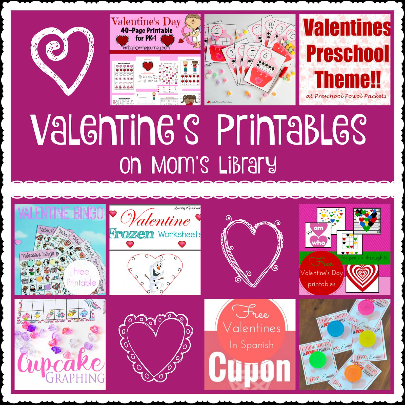 Valentine S Printables On Mom S Library