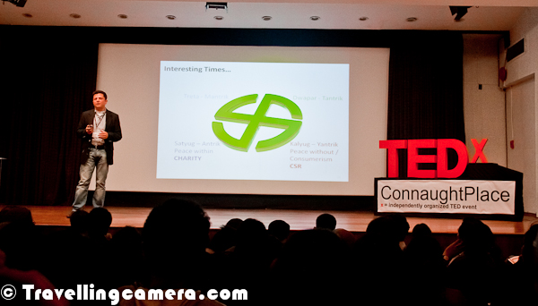 On 11th Feb 2012, a TEDx Connaught Place happened at American Center on Kastoorba Gandhi Road. This Photo Journey is trying to share relevant information about this show with detailed information about Speakers and their ideas...Although Osama was last speaker of the evening, but I thought of sharing his Photograph first. I loved his talk and the work he is doing. Hope more people, who have come to Metros from small towns/villages, join hands with him to really accomplish the mission with more efficient way. Here is Mr. Osama Manzar on TEDx Connaught Place stage. He is a convert social entrepreneur spearheading the mission to overcome the information barrier between India's rural sector, and the so-called developed society, through Digital Empowerment Foundation (DEF) –– which is a the not-for-profit organization founded to accomplish the mission; http://www.defindia.net. Selected & Participated in 'International Visitors Leadership Program' of USA State Department in September 2011.Piyush was first speaker of the evening and delivered one of the most matured talks during the evening. He shared his thoughts and work he is doing around Road Accidents. I really liked the way he has been executing his thoughts in partnership with local police departments. These days, thinking to work with the system for betterment is very courageous thing and can be extremely beneficial for whole society as a whole.  Piyush Tewari is the Founder & President of SaveLIFE Foundation (SLF), which is a non-profit, non-governmental organization focused on improving road safety and emergency care globally. Having started SLF while working at Calibrated Group, a US-based PE fund, as its Managing Director (India), Piyush is now devoting 100% time to SaveLIFE, and currently working to launch India's largest road accident first-response service involving Police and community first-responders.Ishita's passion for the environment and love for the mountains led her to found Ecosphere with a few like-minded individuals. An alumni of some of India's premier institutes, Ishita has over the years been recognized as amongst India's leading 50 social entrepreneurs. She was voted as a Youth Icon in 2008 by Mtv and a Real Hero in 2010 by CNN-IBN. She has also been recognized as an Ashoka Fellow for being a changemaker.Ecosphere is a social enterprise working in the high altitude cold desert valley of Spiti and the neighboring regions of Lahaul and Kinnaur linking conservation concerns to local economies. Ecosphere was awarded India's first ever Sierra Club 'Green Energy and Green Livelihoods Achievement Award' in 2009, for its various initiatives and was nominated for the 2009 CNN-IBN Indian of the Year in the Public Service Category. For its work on responsible travel Ecosphere has been awarded the prestigious Virgin Holidays Responsible Tourism Award 2010 for Best in a Mountain Environment and the 2008 Wild Asia Responsible Tourism Award.Ishita's presentation was impressive with lovely Photographs from Spiti demonstrating different projects of EcoSphere and success stories. She operates in Spiti, Lahaul, Kaza & Kinnaur belt which is not accessible during winters. So she comes down to Delhi for 6 months and spend other half year in Spiti. A Girl with smile on her face and big dreams to achieve. We wish her all the best for future plans. At the same time, people asked her if she will continue working in Spiti area or will try to help other hilly regions of India. Mr Ajay Chaturvedi is Founder of HarVa. He is an ex-Citi where he served in Strategy and Sales positions in Cards and Consumer banking verticals.Ajay talked a lot of rural development, Agriculture and BPOs in rural India. He is mainly focusing on rural India to help Agriculturists in making decent money out of their traditional work, to avoid sale of Agricultural land to Realty companies or not utilizing the real power of acres of land they have. At the same, he is providing opportunities for village ladies who don't want to move out of their villages for earning money or doing some work. He is running few BPOs out of some villages of Haryana.Ajay begun his career with IBM Consulting in the US and has over 14 years of experience in Management, Operations and IT Consulting across Financial Services, IT and ITeS industries in US, UK, and South East Asia. Prior to Citi, Ajay was the Transition Leader at Global Vantedge, a company that was a pioneer in many ways besides being the first offshore receivables management provider. Ajay is an Engineer from BITS Pilani and a Graduate in Management of Technology from the School of Engineering and The Wharton School of the University of Pennsylvania.TEDx Connuaght Place in Delhi is Organized by Youth ki Awaz and American Center. This event started at 4:30 pm and last speech ended at around 9:30 pm.Tania James was raised in Louisville, Kentucky, after a brief stint in Chicago from 0 to 4. She graduated from Harvard University in 2003 with a bachelors degree in Visual and Environmental Studies (filmmaking).Tania James received her Masters of Fine Arts in fiction from Columbia's School of the Arts in 2006. Her work has been published in One Story magazine, Guernica, Elle India, and The Louisville Courier Journal. Her debut novel 'Atlas of Unknowns' was shortlisted for the DSC Prize for South Asian Literature. She lives in Washington DC and teaches creative writing at George Washington UniversityThere was a snacks break between 8 sessions at TEDx Connaught Place, Delhi, IndiaThere was a B-Boying performance by a group and it was amazing as well !!!Here is a whole B-Boying team !!Pramada Menon is a queer feminist activist working on issues of social justice, gender, sexuality and human rights. She is the co-founder of CREA, an international women's human rights organization and worked as the Director Programs of the organization from 2000 – 2008. Before CREA she was the Executive Director of Dastkar, an organization working to ensure sustainable livelihoods for craftspeople. Pramada is also a stand up performance artist and does a show Fat, Feminist and Free, which examines issues of gender, sexuality, sexual rights and body image.It was an interesting talk to listen. Her talk was mainly around the thought of Heterosexuality and acceptance of other free ideas around the Sex. She even raised the point that why type of Sex becomes eligibility for anything. From Childhood, we all are fed with stories around a Prince and Princess and then happy story keeps continuing. Stress was mainly of freedom of thought & activities for people who are not convinced very typical things happen in India Society. She put her point brilliantly and I would not do justice to explain that here. So please go through Google and check out more articles about her.She was quite humorous during the speech. And it seems that she is also a Stand up Comedian and have been doing various shows in India for a long time. Here is some information about TEDx Connaught Place and the idea behind this event - http://www.tedxconnaughtplace.com/2012/01/05/what-is-tedxconnaughtplace/Swati Sahni is currently working as a Senior Consultant to India's Ministry of Human Resource Development on the Right to Education. She supports the National Government on issues related to Educational Policy & Planning and State Governments on the implementation of the Right to Education Act. Prior to her work at the Ministry, she worked on school education with the National Council of Educational Research and Training, Nehru Memorial Museum & Library and Pravah. She also coordinates the Global Young Indian Professionals and Students, a group aimed to develop a stronger community of young Indian professionals and students, with the aim of furthering their professional development and facilitating their contribution to India's political, social and economic development. She has also been awarded the Fulbright-Nehru Masters Fellowship for Leadership Development for the year 2012-13.Anoj is Milaap's man on the field; he builds and maintains relationships with microfinance institutions, social enterprises, and funders from the development sector. A Starting Bloc Fellow for 2010, Anoj co-founded Milaap after working with SKS Microfinance in energy and water services. He has also worked at ReEx Capital Asia, a cleantech investment boutique in Singapore and served as a fellow at D.light Design, developing consumer financing & mapping models for rural electrification.http://www.milaap.org/ Anoj's atlk was full of passion and Energy about the work he is doing. He got maximum claps after his speech during TEDx show on 11th Feb 2012 !!! And during this speech, he emphasized on fact that demand of needy loans is huge and supply is main problem he is trying to solve. His organization work with other ground level NGOs to identify right candidates for these loans. Lot of Success stories can be seen on http://www.milaap.org/ and we wish that more people get involved with this transparent community to help others in best possible way.Osama started his talk with his educational background and what all he has done throughout his life. During this he shared some deep thoughts which helped him taking this step to help Rural India and link them with so called developed society of IndiOsama has just released his 4th Book called 'NetCh@kra: 15 Years of Internet in India' http://netchakra.net . He is a Member, Working Group, Internet Governance Forum of Ministry of Communication & IT and was a Member, Task Force on Growth of IT, ITES & Electronics HW Manufacturing Industry, Ministry of Comm & IT, India.Check out following link to know more about Osama - http://defindia.net/who-we-are/founder/Check out following links to know more about TEDx Connaught Place Epicode http://www.ted.com/tedx/events/2360 http://www.tedxconnaughtplace.com/