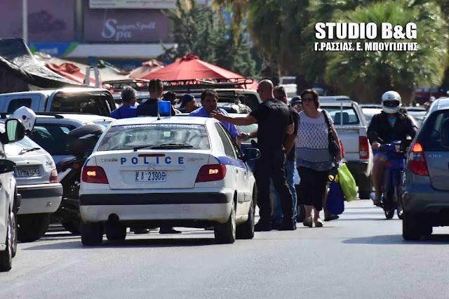 Ένταση στη λαϊκή αγορά του Ναυπλίου - Απομάκρυνση πωλητών ρούχων χωρίς άδεια με την συνδρομή της αστυνομίας