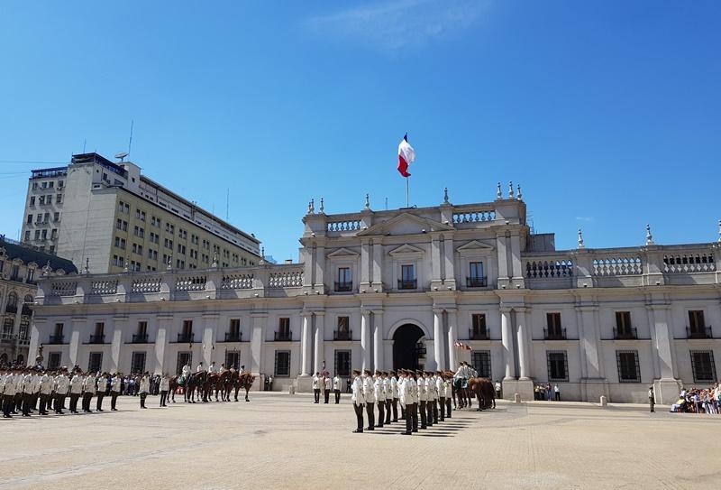 Palacio de la Moneda Troca da Guarda