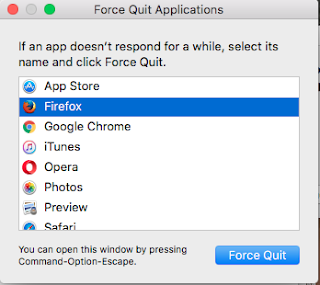 Force Quit Apple Force Quitting application on your Mac system