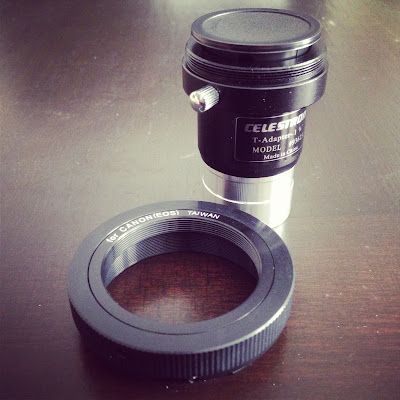 Celestron Universal T-Adapter and canon eos t-ring