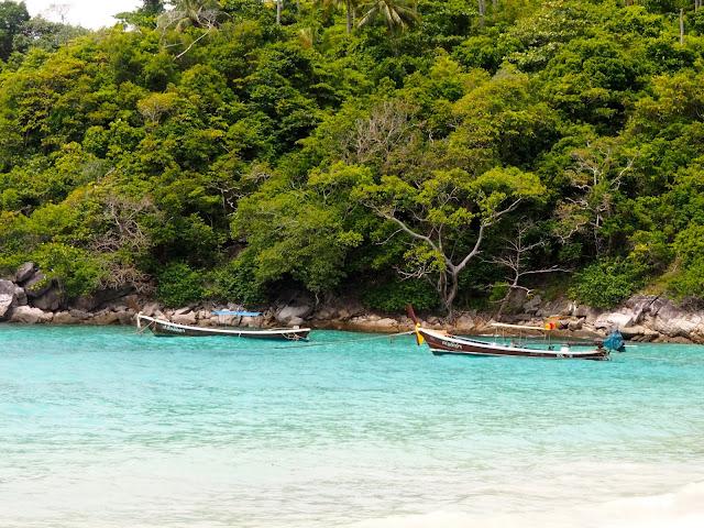 Longtail boats near Racha Island, Phuket, Thailand