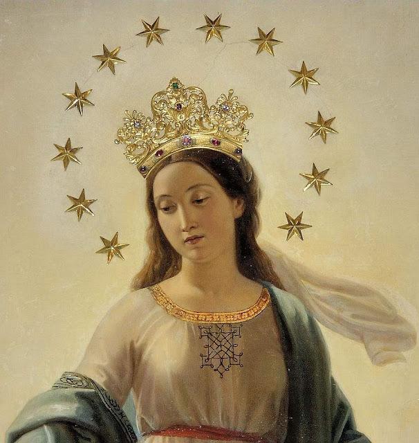 Nossa Senhora do Milagre, igreja de Sant'Andrea delle Frate, Roma, detalhe