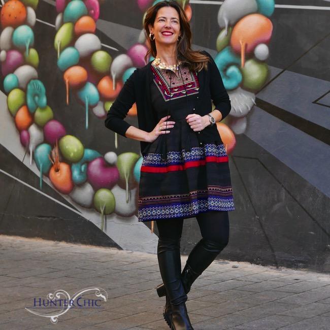 hunterchic by marta-marta halcon de villavicencio-vestido tribal-como combinar un vestido tribal