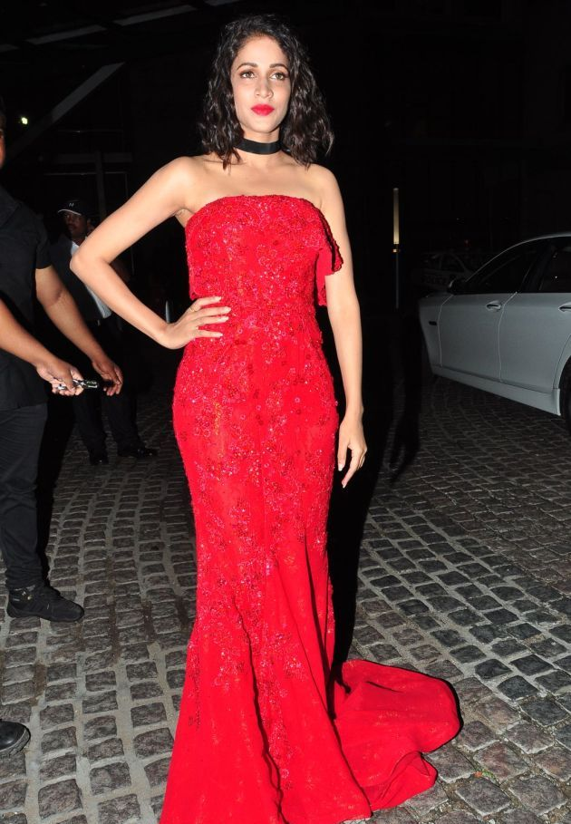Lavanya Tripathi Photos at Filmfare Awards In Red Gown