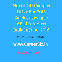 Novell Off Campus Drive For 2015 Batch salary upto 6.5 LPA Across India in June-2016