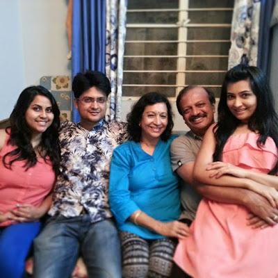 Radhika Pandit's happy famil